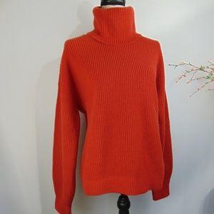 Tory Burch Turtleneck Sweater Wool Cashmere Blend